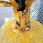 Vorzustand: Kupferfigur Blattvergoldet