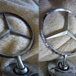 Mercedes-Benz Stern auf Hochglanz poliert
