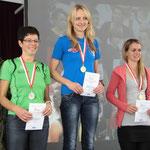 Anita Quehenberger, Berna Schuster, Nina Bauer - die neuen Landesmeisterinnen im Halbmarathon