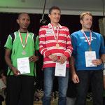 Die schnellsten Männer Oberösterreichs: Seid Endris (2), Günther Weidlinger (1), Franz Ellmauer (3)