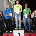 Landesmeisterschaft AK-40: vlnr. Ich, Martin Hotz und Joe Dißlbacher