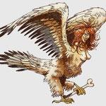 la sirène, hybride de femme et d'oiseau, qui envoûte les humains par son chant.