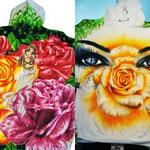 Däumeline im Rosenbeet Sweatshirt Vorder- und Rückenansicht