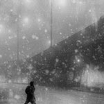 In a snow storm