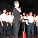 Präsidentin des Frauenchor Maisprach, Barbara Frei beschliesst das Programm