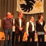 Christian Imhof, 28 Sängerjahre (links), Stephan Imhof, 26 Sängerjahre (2. von links)