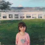 297 - Irene Cuadrado Hernández - Explicaciones,Vera. - Óleo sobre tabla preparada - 80x80x4