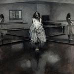 Vicente Romero Redondo - Ana y el espacio - Óleo sobre lienzo - 89x116