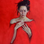 110 - Stephanie Rew - Crimson Heart - Oil on linen - 50x60