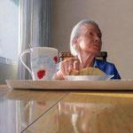 Aurelio Rodriguez - En busca de la memoria - Pastel sobre madera - 80x80
