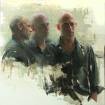 148 - Aldo BALDING - Alban trilogy - Oil on canvas - 100x100
