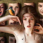 34 - Jaime Sanjuán - Martina - Pintura digital realizada con los dedos - 100 X 76