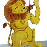 Leo Löwe. Bühenfigur für ein Kinder-Musiktheater.