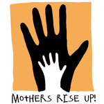 "Logo für ""mothers rise up"" in London"
