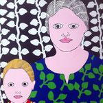Série Famille - sans titre - Acrylique sur Toile - 60X80