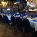 disposition des tables pour les banquets