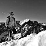 Elie en direction du sommet de la Grande Ruine