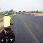 nutzen italienische Straßenbauarbeiten