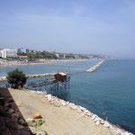 Strand mit Trabucco