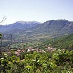 Am Hang mit Blick auf die Monti del Matese