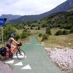 Radweg am Lago di Scanno