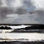 FORA, 2016, Öl, Acryl, Kohle auf Leinwand, 30 x 30 cm