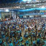 Beija Flor samba school rehearsal