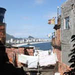 Favela with view on the ocean