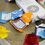 おもしろ工作教室〜折り紙でのメッセージカード