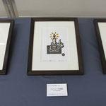 ⑧木版手彩作品は、以前手掛けた<アンティーク洋燭台>等3点を抜粋。