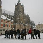 unsere Reisegruppe vor dem St. Veits dom
