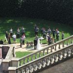 Hochzeit mit Militärbegleitung im Schloß Belveder