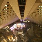 Blick vom 30. Stock im Inneren der Pyramide