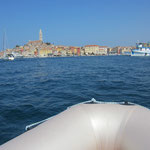 Bootstour mit Blick auf Rovinj