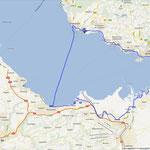 Radtour mit Garmin GPS aufgenommen (gesamt 60km)