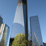 das One World Center ist noch im Bau am Ground Zero