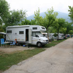 unser Campingplatz direkt am Lago di Levico