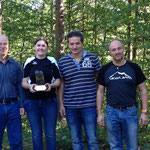 Vereinscup-Sieger: vlnr. Kehrli Walter (2.); Huggler Stephanie (1.); Bauer Franz (3.); Bauer Markus (4.)