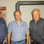Saustich-Sieger: vlnr. Blatter Erich (2.); Bauer Markus (1.); Sulliger Alfred (3.)