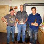 Jahrsmeisterschaft: vlnr. Glarner Walter (3.); Huber Alexander (1.); Bauer Franz (3.)