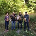 Sieger Glockenstich vlnr.: 3. Huggler Stephanie; 1. Kehrli Alexander; 3. Huggler Thomas; bester JS Linder Kilian