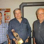 Boozistich-Sieger: vlnr. Bauer Markus (2.); Blatter Erich (1.); Sulliger Alfred (3.)