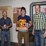 Gewinner Jahresmeisterschaft vlnr.: Kehrli Alexander (2), Egger Markus (1), Huber Alexander (3)