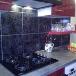 Cuisine équipée, hotte et lave vaisselle