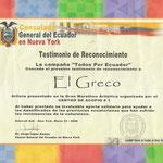 EL GRECO. TESTIMONIO DE RECONOCIMIENTO