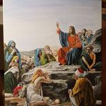 """""""Die Bergpredigt"""" (nach einem Gemälde von Carl Bloch), Acryl auf Leinwand, 60 x 80 cm"""