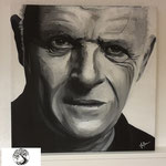 Anthony Hopkins, Acryl auf Leinwand, 2016