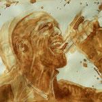 "Jason Statham in ""Crank"", Kaffee auf Aquarellpapier, 2017"