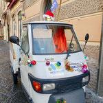 個性的なアマルフィ市の清掃車
