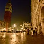 カーニヴァルの広場のイベントが中止され、ひっそりとしたサン・マルコ広場の入口